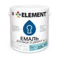 ELEMENT акриловая эмаль для окон и дверей 0.75л