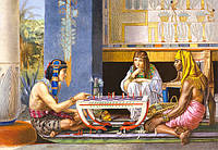 "Пазлы 1000 эл.. Castorland Copy of ""Egyptian Chess Players, Sir Lawrence Alma-Tadema"" (14)"