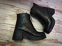 Женские ботинки демисезонные на толстом каблуке