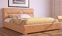 Кровать Камелия с подъемным механизмом с мягким изголовьем полуторная