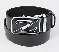 Кожаный ремень автомат мужской Zegna 8006-313 черный