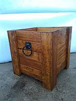 Ящик для растений 50х50, дерево (дуб)