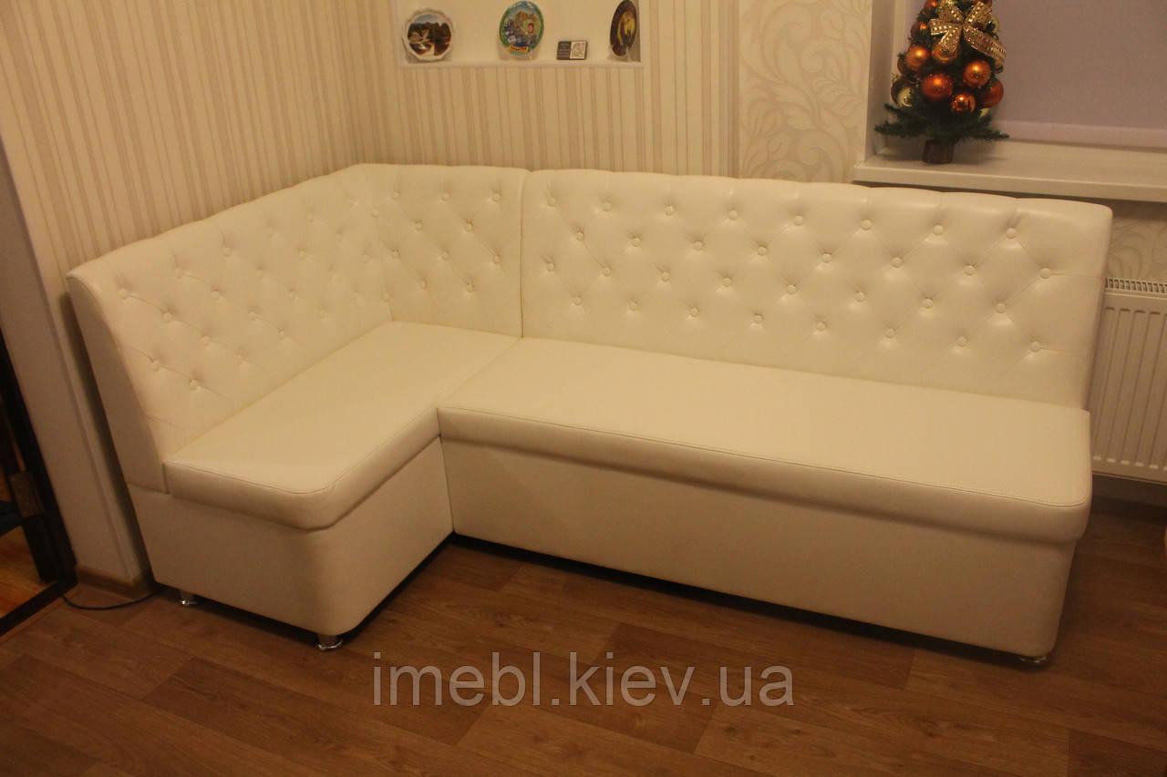 Белый кухонный уголок с ящиками под заказ