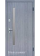 Двери входные Steelguard АV-1 Grey Glass Дуб вулкано