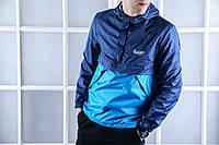 Анорак, ветровка, куртка весенняя, осенняя, высокое качество, голубой+ синий