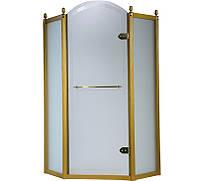 Пятиугольная душевая кабина Volle Grand Tenerife Gold 1000x1000x2000 10-22-166 G профиль золото/стекло матовое