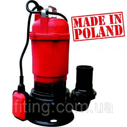 Насос фекальный 1,1 кВт (10 мᵌ/ч | 12 м.) Optima WQD 10-12 (Польша), фото 2