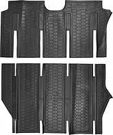 Полиуретановые коврики для Mercedes Viano (long) салон из двух частей 2007-2014 (AVTO-GUMM)