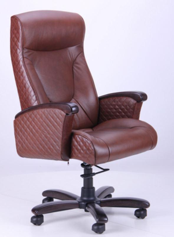 Кресло Галант Лайн DT Орех Кожа Люкс комбинированная Коричневая