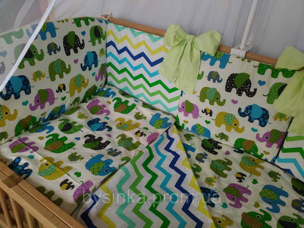 """Комплект постельного белья сменка защитное ограждение бортики подушками, одеяло - """"Сладкий сон"""" 8 ед."""