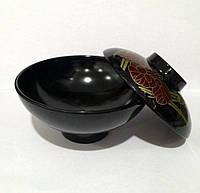 Супница с картинкой, черная