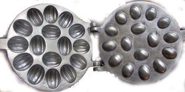 Форма для выпечки печенья Орешки под начинку 16-ти