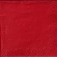 Салфетки бумажные красные 20 штук