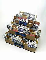Прямоугольная подарочная коробка ручной работы для мужчин с оригинальными авто номерами / знаками