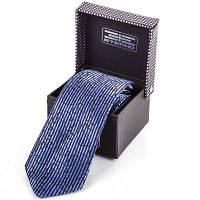 Мужской широкий шелковый галстук eterno eteg676 темно-синий