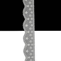 Кружево Hobby F-30974 цвет 502 сер.+бел., 4,5 см.