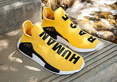 Мужские кроссовки Adidas NMD HU Pharrell Human Race Yellow BB0619, Адидас НМД, фото 2