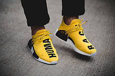 Мужские кроссовки Adidas NMD HU Pharrell Human Race Yellow BB0619, Адидас НМД, фото 3