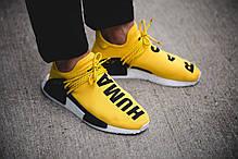 Мужские кроссовки Adidas NMD HU Pharrell Human Race Yellow BB0619, Адидас НМД, фото 3