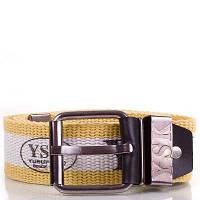 Мужской текстильный ремень y.s.k. shi-t-3 желто-белый