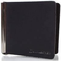 Зажим для купюр мужской кожаный dnk leather (ДНК ЛЕЗЕР) dnk-spring-clamp-hcol.j