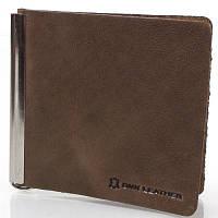 Зажим для купюр мужской кожаный dnk leather (ДНК ЛЕЗЕР) dnk-spring-clamp-hcol.g