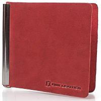 Женский кожаный зажим для купюр  dnk leather dnk-spring-clamp-hcol.h красный