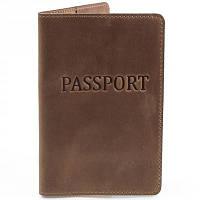 Мужская кожаная обложка для паспорта dnk leather (ДНК ЛЕЗЕР) dnk-pasport-hcol.g