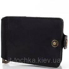 Зажим для купюр мужской кожаный dnk leather (ДНК ЛЕЗЕР) dnk-clamp-trifle-hcol.j