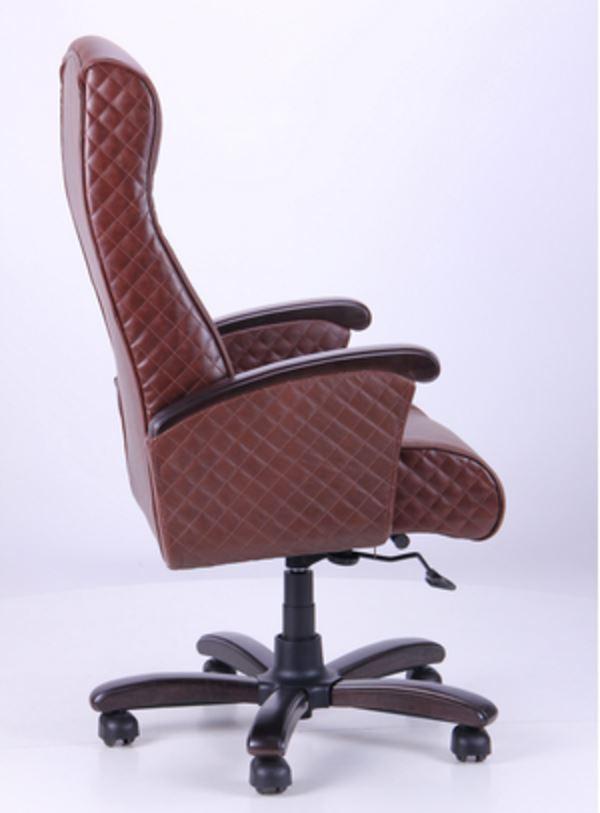 Кресло Галант Лайн DT Орех Кожа Люкс комбинированная Коричневая (фото 3)