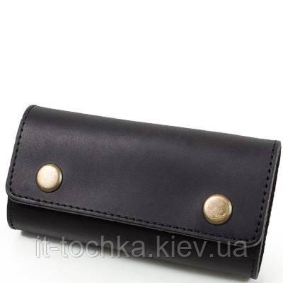 Мужская кожаная ключница dnk leather dnk-keys-scol.j черная