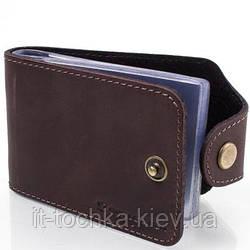 Визитница кожаная мужская dnk leather (ДНК ЛЕЗЕР) dnk-cards-hcol.f