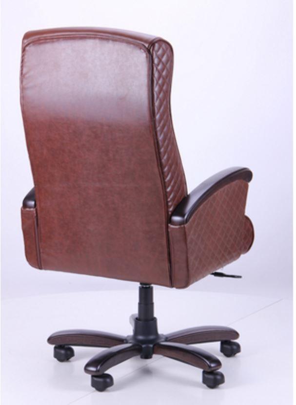 Кресло Галант Лайн DT Орех Кожа Люкс комбинированная Коричневая (фото 4)