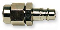Штуцер быстроразъёмного соединения (папа) стальной привинчиваемый для шланга 8-12 мм