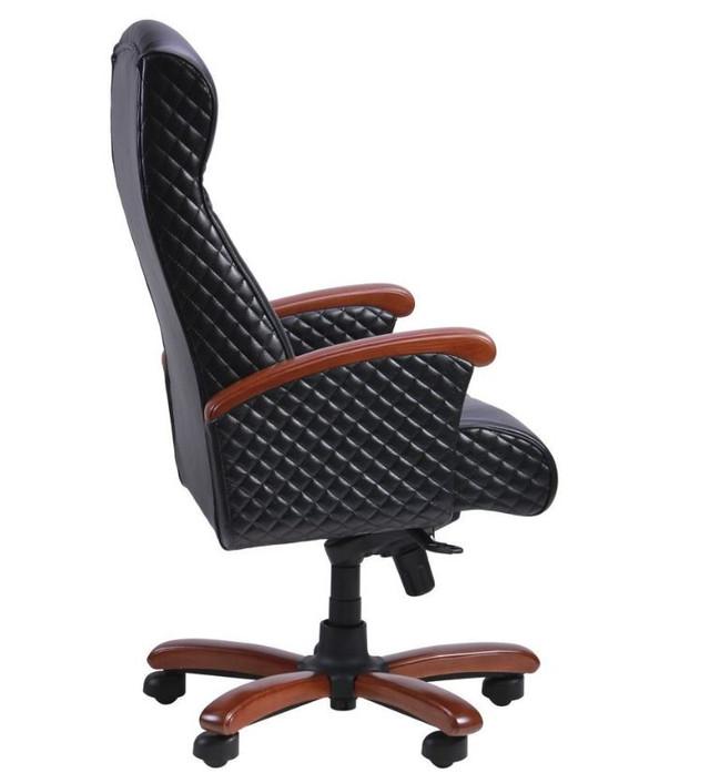 Кресло Галант Лайн MB Коньяк Кожа Люкс комбинированная Черная (фото 4)