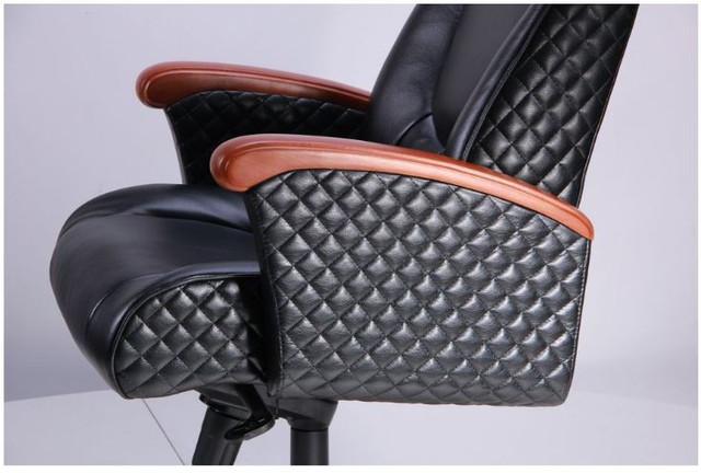 Кресло Галант Лайн MB Коньяк Кожа Люкс комбинированная Черная (фото 7)
