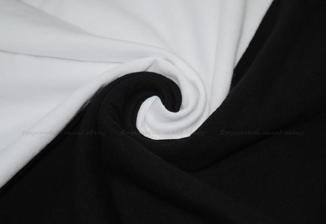 Мужская футболка с цветными длинными рукавами Белый/Чёрный