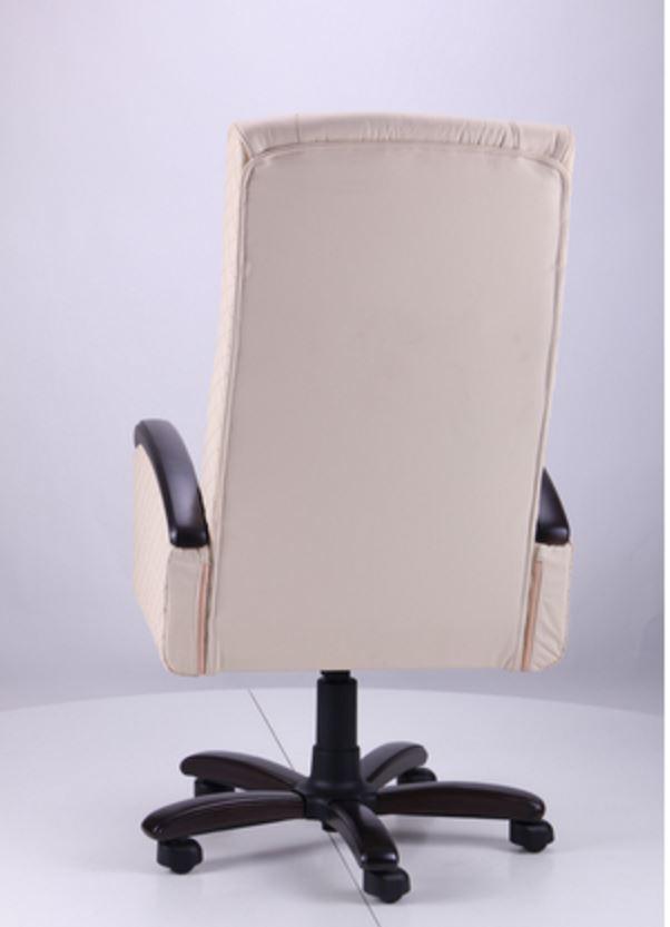 Кресло Галант Элит DT Орех Кожа Люкс двухсторонняя Ваниль (фото 5)