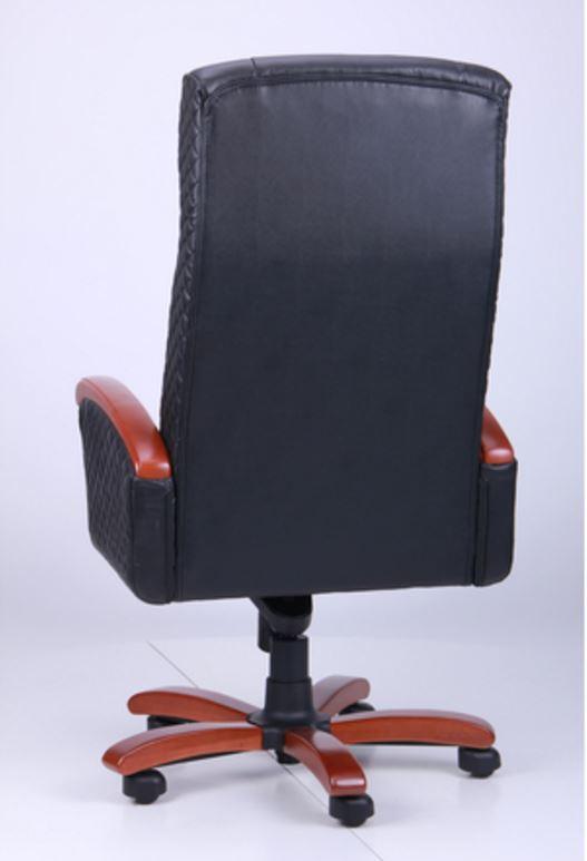 Кресло Галант Элит MB Коньяк Кожа Люкс двухсторонняя Черная (фото 5)