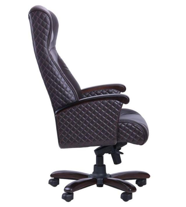 Кресло Галант Элит MB Орех Кожа Люкс комбинированная Темно-коричневая (фото 3)