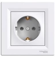 Schneider Electric Asfora Розетка с/з белая