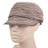 Женская кепка с козырьком del mare 121-32 серо-коричневая