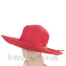Женская шляпа del mare 100-13 красная с широкими полями