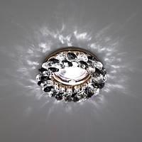 Встраиваемый декоративный светильник с кристаллами Feron CD4141 серый - золото