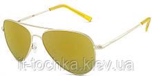 Солнцезащитные женские очки polaroid p6012n-j5g56lm Авиаторы с поляризационными зеркальными линзами