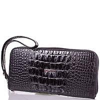 Женский кожаный кошелек desisan shi075-2lkr черный под крокодила