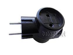 """Тройник """"Токер"""" ЕМР, 10А 220V цвет: Черный, пак - 6 шт. упаковка 120 шт."""