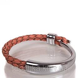 Женский кожаный браслет deri bileklik sh1002-19 оранжевый