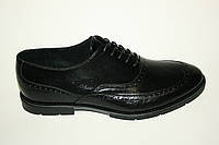Туфли черные на шнуровке, классика, фото 1