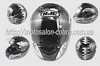 "Шлем-интеграл   ""HJC""   (mod:R1) (size:XXL, черно-белый, SAMURAI)"